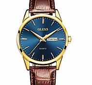 economico -orologio da uomo in pelle marrone, orologio da uomo orologio da polso analogico al quarzo moda casual, orologi da giorno per uomo, orologio da uomo in oro rosa impermeabile, orologi con quadrante blu