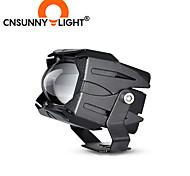 abordables -cnsunnylight double couleur moto led phare projecteur lentille 8000lm moto conduite projecteur moto spot lumière brouillard drl lampes 2 pièces