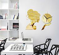abordables -Maison créative bricolage montre horloge fille miroir 3d acrylique horloge silencieuse horloge murale chambre moderne mode sticker mural