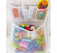 economico -organizer per giocattoli da bagno, borse per giocattoli da bagno giocattoli per bambini borsa per riporre la rete da bagno supporto per rete (bianco)