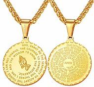 economico -collana medaglia moneta antica 925 ciondolo mani in preghiera in argento sterling, catena 20 pollici