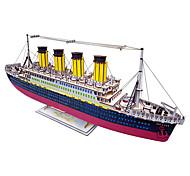 abordables -Puzzles 3D Puzzle Kit de Maquette Bateau A Faire Soi-Même Simulation En bois Classique Adulte Unisexe Jouet Cadeau