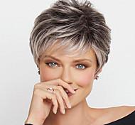 abordables -Perruque Synthétique Bouclé Boucle rebondissante Coupe Lutin Perruque Court Blond clair A1 A2 A3 A4 Cheveux Synthétiques Femme Design à la mode Doux Facile à transporter Blond