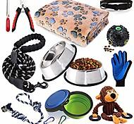 abordables -Kit de démarrage pour chiot Fournitures pour chiens Assortiments Couvertures de lit pour chiens Fournitures de formation pour chiots
