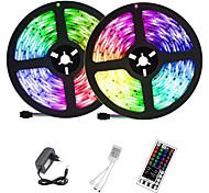 economico -ZDM® 2x5m Strisce luminose LED flessibili Strisce luminose RGB 300+300 LED 2835 SMD 8mm 1 telecomando da 44Keys 1 set Colori primari Feste Decorativo Auto-adesivo 12 V