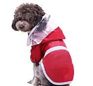 economico -Prodotti per cani Prodotti per gatti Impermeabile Tinta unita Originale Abbigliamento per cani Vestiti del cucciolo Abiti per cani Rosso Costume per ragazza e ragazzo cane Poliestere S M L XL XXL 3XL