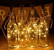 economico -2 m luci stringa bottiglia di vino 6 pz 20 led bianco caldo bianco rosso decorazione creativa per feste di festa albero di natale si accende