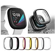 economico -Custodie Per Fitbit Fitbit Versa 3 / Fitbit Sense TPU Proteggi Schermo Custodia per Smartwatch  Compatibilità