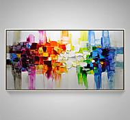abordables -Peinture à l'huile Hang-peint Peint à la main Panoramique horizontal Abstrait Nature morte Moderne Rideau (sans cadre)
