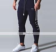 abordables -Homme Joggings Pantalons de Jogging Athleisure Bas Cordon Coton Hiver Fitness Exercice Physique Course Running Entraînement Séchage rapide Evacuation de l'humidité Doux Normal Sport Noir Gris clair