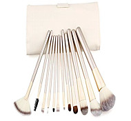 abordables -Ensemble de 12 pinceaux de maquillage putwo avec kit de maquillage - blanc, 9,14 onces
