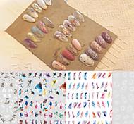 abordables -Nail art encre maculage autocollants graffiti ludique autocollants à ongles mignons autocollants à ongles pour enfants frais