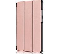 abordables -téléphone Coque Pour Lenovo Coque Intégrale Lenovo Tab M7 TB-7305F Antichoc Clapet Couleur Pleine faux cuir PC