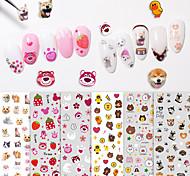 abordables -1 pcs Autocollants 3D pour ongles Autocollant de transfert d'eau Série de dessin animé / Créatif Manucure Manucure pédicure Meilleure qualité / Jetable / Nouveautés Mode / Le style mignon Quotidien
