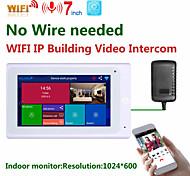 abordables -Mountainone SY706W 7 pouces moniteur intérieur sans fil wifi vidéo sonnette système d'interphone 1080p ahd caméra