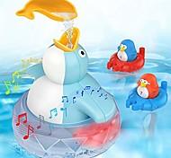 abordables -jouets de bain jouet de baignoire pour tout-petits enfants bébés 1 2 3 4 ans garçons et filles, 1 pingouin flottant avec musique et lumière LED, 2 pingouins mignons éjacule jouet bébé jouet de bain