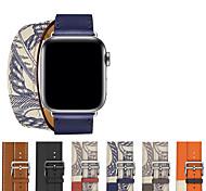 economico -Cinturino intelligente per Apple  iWatch 1 pcs Chiusura classica Vera pelle Sostituzione Custodia con cinturino a strappo per Apple Watch Serie 6 / SE / 5/4 44 mm Apple Watch Serie  6 / SE / 5/4 40mm