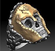 abordables -Bague / Anneaux Classique Dorée Cuivre Plaqué or Crâne Tete de Mort Mode 1pc 9 10 11 12 / Homme