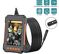 economico -Telecamera per endoscopio da 10 m 1080p 8mm hd da 4,3 '' telecamera professionale a doppia lente per ispezione telecamera a serpente portatile con 8 led ip68 impermeabile 10m