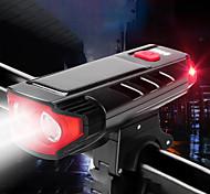 abordables -Eclairage de Velo Eclairage de Vélo Avant Phare Avant de Moto Lampe de Vélo avec Klaxon Vélo Cyclisme Imperméable Super brillant Haut-parleur Sortie de charge USB 800 lm Rechargeable USB Energie