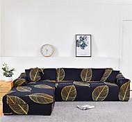 abordables -Housse de canapé imprimée à la feuille d'or Housse de canapé extensible Housses de canapé pour 1 ~ 4 coussin canapé avec une taie d'oreiller gratuite