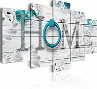 """economico -decorazione della casa da sogno grande 5 pannelli turchese stampa su tela dipinto moderno wall art decor 60 """"l x 30"""" h"""