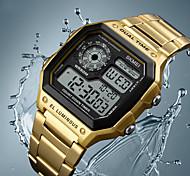 economico -orologio multifunzione digitale da uomo sveglia dual time cronometro conto alla rovescia retroilluminazione orologio impermeabile oro rosa (oro rosa)