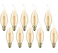 economico -10 pz 6 pz 4 pz 40 w e14 c35l giallo caldo 2200-2700 k retro dimmerabile decorativo incandescente vintage lampadina edison 220-240 v