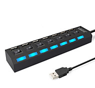 economico -LITBest con interruttori indipendenti HUB-02 USB 2.0 a USB 2.0 Hub USB 7 Porti Per Windows, PC, laptop