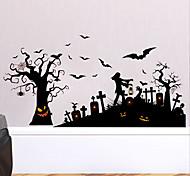 abordables -Halloween stickers muraux stickers muraux décoratifs, pvc décoration de la maison sticker mural décoration murale / amovible 30 * 90 * 2 cm