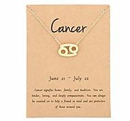 economico -12 costellazione collana con ciondolo zodiaco astrologia catena tono oro con messaggio in oro per gioielli da donna (cancro)