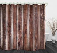 abordables -Panneau de bois de pin imprimé rideau de douche en tissu imperméable pour salle de bain décor à la maison rideaux de baignoire couverts doublure comprend avec crochets