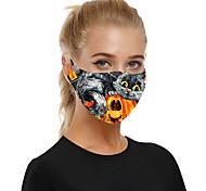 abordables -masque en tissu respirant anti-poussière halloween pour hommes et femmes avec filtre insérable
