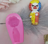 economico -halloween clown stampo in silicone divertente fai da te fondente torta stampo presa d'aria clip stampo aromaterapia gesso