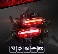 economico -LED Luci bici Luce posteriore per bici luci di sicurezza Ciclismo da montagna Bicicletta Ciclismo USB Batteria al litio Impermeabile Portatile Sveglia Avvertenze Li-Batteria integrata 120 lm