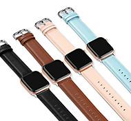 economico -Cinturino intelligente per Apple  iWatch 1 pcs Chiusura classica Banda di affari Similpelle Sostituzione Custodia con cinturino a strappo per Apple Watch Serie SE / 6/5/4/3/2/1