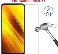 abordables -Protection Ecran XIAOMI Verre Trempé Xiaomi Poco X3 NFC 2 pcs Haute Définition (HD) Dureté 9H Anti-Rayures Ecran de Protection Avant Film Vitre Protection Accessoire de Téléphone