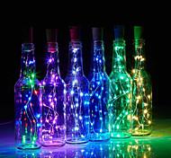 economico -luci della stringa della bottiglia del led a forma di sughero 30pcs 12pcs 10pcs luce stellata notturna del led 2m tappo del filo di rame 20led lampada della bottiglia di vino festa nuziale decorazione