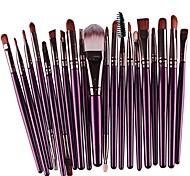 economico -set di pennelli per trucco creazy 20 pezzi set di pennelli per trucco in lana& # 40; viola& # 41;