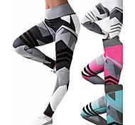abordables -Femme Taille haute Pantalon de yoga Patchwork Legging Contrôle du Ventre Lifting des fesses Étirement à 4 voies Noir Fushia Vert Maille Aptitude Exercice Physique Fonctionnement Hiver Des sports