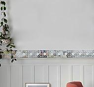 abordables -1 lot de 10 pièces 3D acrylique miroir stéréo autocollant mural ligne de taille coller fond décoration coller couloir bord ligne d'ancrage avec dos colle 10 * 10 cm