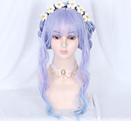 abordables -Non Bleu Douce Lolita Ōji Lolita (style garçon) Lolita Perruque Lolita 65 pouce Perruques de Cosplay Mode Perruque Perruques d'Halloween
