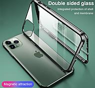 economico -telefono Custodia Per Apple Integrale Custodia ad adsorbimento magnetico iPhone 12 Pro Max 11 SE 2020 X XR XS Max 8 7 Con chiusura magnetica A calamita Doppia setola Tinta unita Vetro temperato