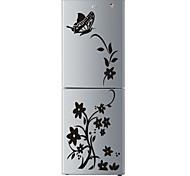 abordables -Haute qualité créatif réfrigérateur autocollant papillon motif stickers muraux décoration de la maison cuisine mur art mural décor