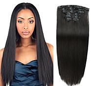 abordables -A Clipser Extensions de cheveux humains 7Pièces / Paquet 70g / paquet Brun / Blond Fraise Medium Marron / Blond Platine Marron Doré /