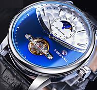 economico -FORSINING Per uomo orologio meccanico Analogico Carica automatica Stile vintage Casuale Whirlpool Orologi con incisioni / Pelle