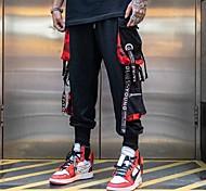 economico -Per uomo Essenziale All'aperto Quotidiano Carico tattico Pantaloni Multicolor Alla caviglia Nero