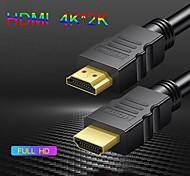 abordables -câble hdmi 4k câble hdmi vers hdmi câble hdmi 2.0 pour diviseur de boîte de commutation tv ps4 4k * 2k câble ultra hdmi vidéo 1m 3m 5 m