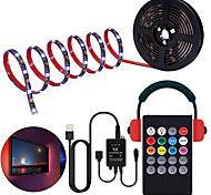 economico -controllo della musica striscia luminosa a led 1m 2m 3m 4m 5m 5050 rgb smd 30 led per metri tiktok luci di striscia a led con ir 24 key controller porta usb dc5v