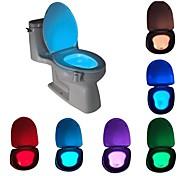 abordables -Capteur de mouvement activé par le mouvement de lumière de nuit de toilette à LED avec salle de bain étanche à 8 couleurs changeantes pour la lumière de siège de toilette de sécurité pour enfant adult